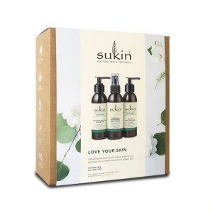 Sukin, Zestaw prezentowy LOVE YOUR SKIN Original, 3 produkty