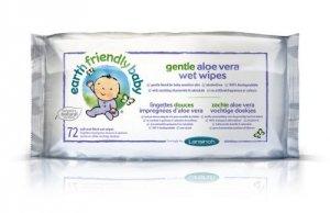 Earth Friendly Baby, Ekologiczne chusteczki pielęgnacyjne, 72 szt.