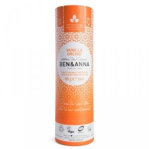 BEN and ANNA, Naturalny dezodorant na bazie sody VANILLA ORCHID (w sztyfcie, kartonowy)