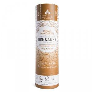 BEN and ANNA, Naturalny dezodorant na bazie sody INDIAN MANDARINE (w sztyfcie, kartonowy)