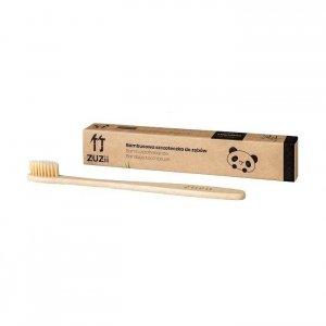 Naturalna, wegańska szczoteczka do zębów dla dorosłych bambusowa SOFT beżowa