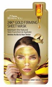 7th heaven - Renew You 24K Gold Firming Sheet Mask ujędrniająca maseczka w płachcie z 24K złotem 1szt