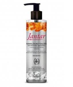 Farmona - Jantar Moc Bursztynu nawilżający olejek pod prysznic i do kąpieli do skóry suchej i wrażliwej Bursztyn i Srebro 400ml