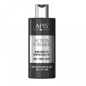Apis - Action For Men nawilżający żel do mycia ciała 3w1 300ml