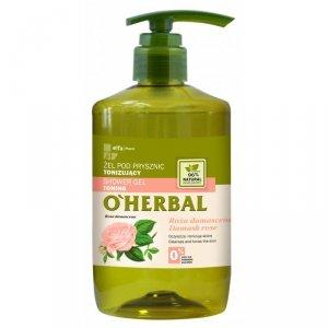 O'herbal - Shower Gel Toning żel pod prysznic tonizujący z ekstraktem z róży damasceńskiej 750ml
