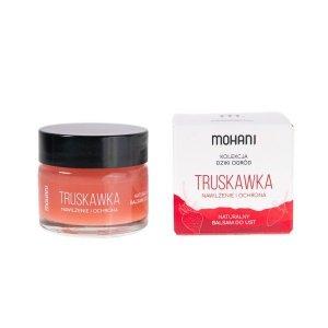 Mohani - Nawilżająco-ochronny balsam do ust Truskawka 15ml