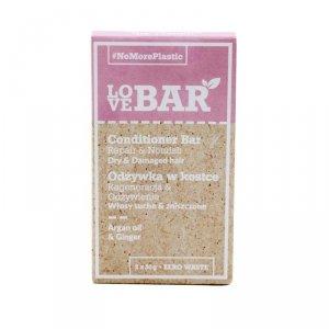 Love bar - Conditioner Bar odżywka w kostce do włosów suchych i zniszczonych Olej Arganowy & Imbir 2x30g