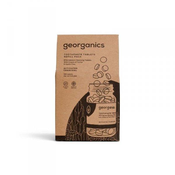 Georganics, Naturalne tabletki do mycia zębów, Activated Charcoal, 720 tabletek