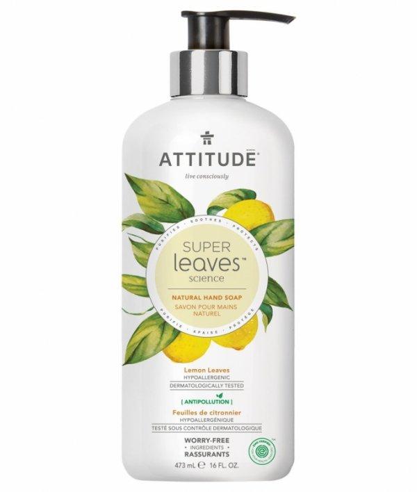 Attitude, Super Leaves, Mydło do rąk, Liście limonki, 473ml