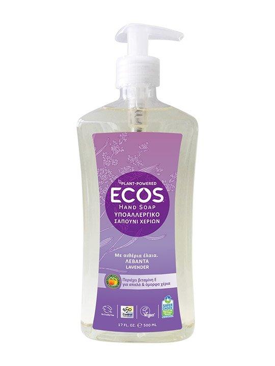 ECOS, Mydło do rąk, Lawenda, 500ml