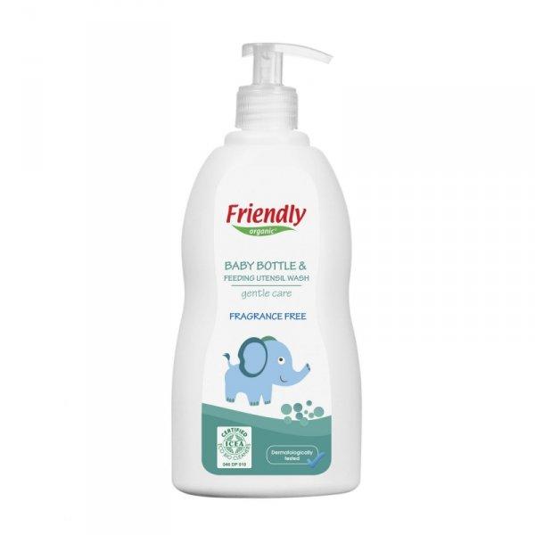Friendly Organic, Płyn do mycia butelek dziecięcych Bezzapachowy, 500ml Dispenser