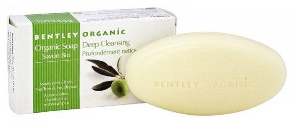 Bentley Organic, GŁĘBOKO OCZYSZCZAJĄCE Mydło z Oliwek, Olejku Herbacianego i Eukaliptusa, 150 g