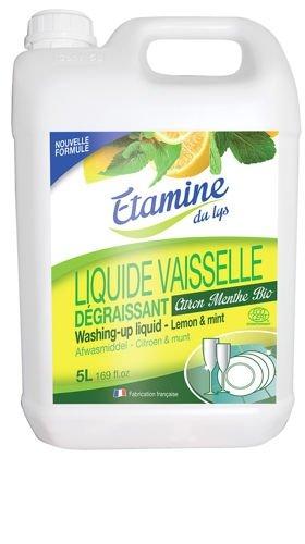 Etamine du Lys, Płyn do mycia naczyń Organiczna Cytryna i Mięta, Kanister, 5000 ml