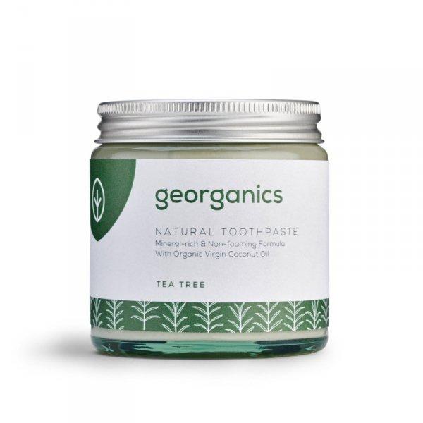 Georganics, Mineralna pasta do zębów w słoiku Tea Tree, 120ml