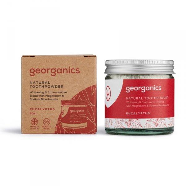 Georganics, Proszek do czyszczenia zębów, Eucalyptus, 60 ml