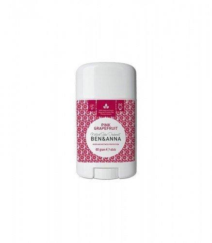 BEN & ANNA Naturalny Dezodorant na bazie Sody PINK GRAPEFRUIT (sztyft plastikowy) 0% Aluminium 60g