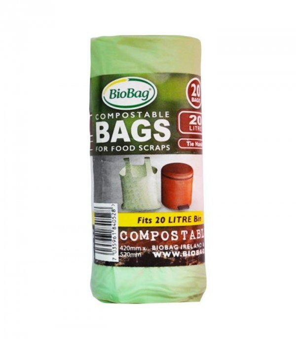 BIOBAG Worki na odpady Organiczne w 100% Biodegradowalne i Kompostowalne 20L Rolka 20 sztuk