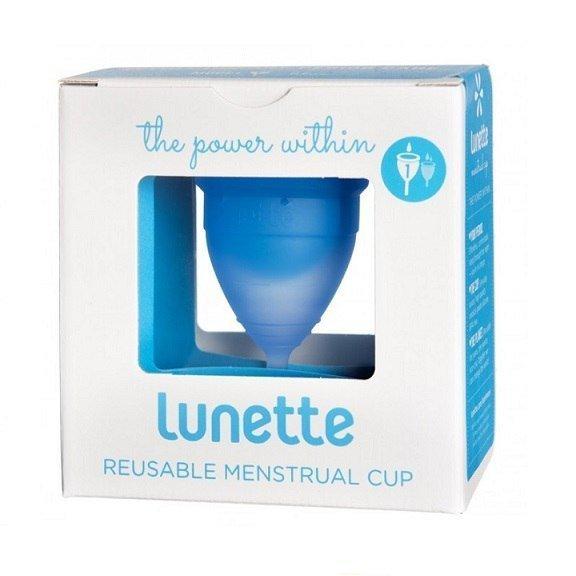 Lunette Kubeczek menstruacyjny model 1 niebieski + woreczek