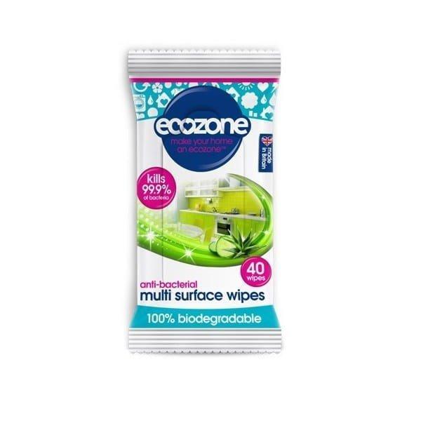 ECOZONE Chusteczki myjące do różnych powierzchni, 100% biodegradowalne, 40 szt.