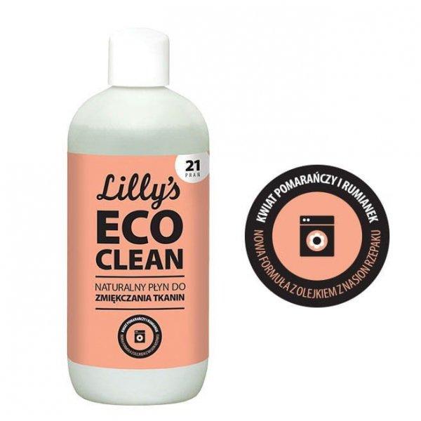 6x LILLY'S ECO CLEAN Płyn do zmiękczania tkanin z olejkiem z kwiatu pomarańczy i olejkiem rumiankowym 750ml