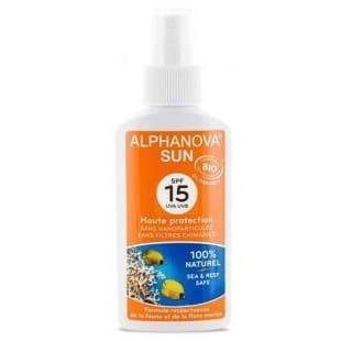Alphanova Sun Bio Spray Przeciwsłoneczny, filtr 15 125 ml