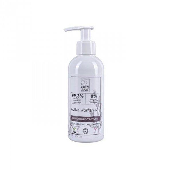 ACTIVE ORGANIC Płyn do higieny intymnej ACTIVE WOMAN 50+ z pompką 200 ml