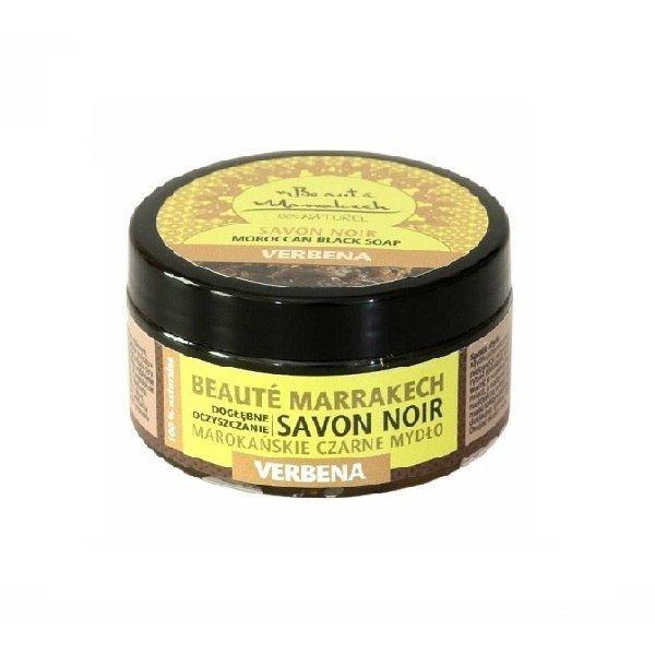 BEAUTE MARRAKECH Czarne mydło Savon Noir z olejem z werbeny 100g