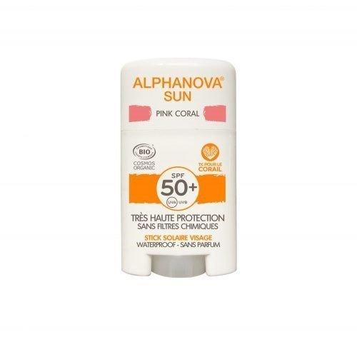 ALPHANOVA SUN Krem z filtrem w sztyfcie SPF 50+ PINK CORAL 12g