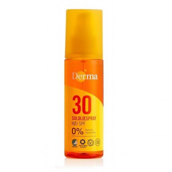 DERMA SUN Hipoalergiczny olejek przeciwsłoneczny SPF 30, 150ml