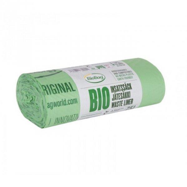 BioBag Worki na odpady organiczne i zmieszane w 100% biodegradowalne i kompostowalne 75L rolka 20 sztuk