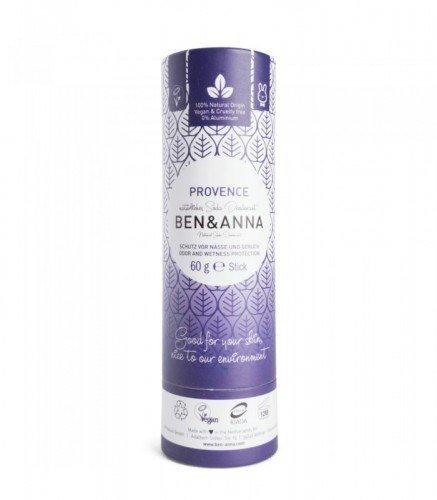 BEN & ANNA Naturalny Dezodorant na bazie Sody PROVENCE (sztyft kartonowy) 0% Aluminium 60g