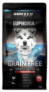 BIOFEED Euphoria Adult Dog GF TURKEY&SALMON 2kg
