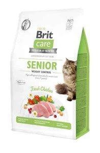 Brit Care Senior Kot 7kgHipoalergiczna Kontrola Wagi dla Kocich Seniorów