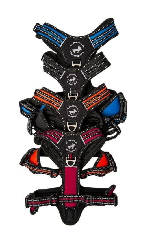 All For Dogs Szelki 3xSport kolory M rączka i 3 zapięcia