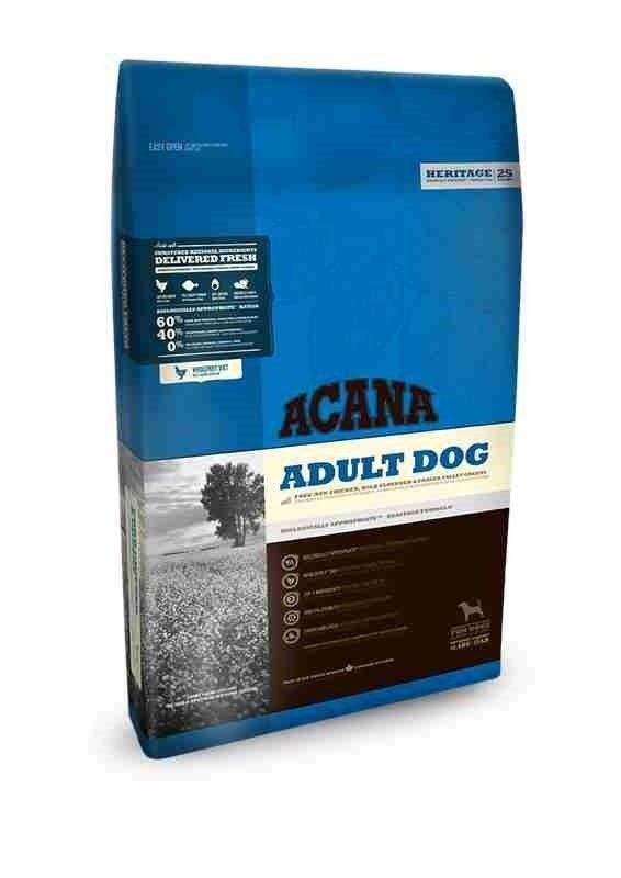 Acana Heritage Adult Dog 11,4kg sucha karma dla dorosłego psa