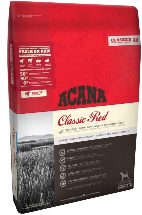 Acana Classic Red 11,4kg 3xMięso dla psa
