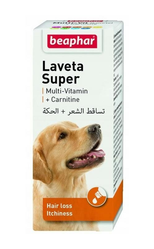 beaphar Laveta Super Pies 50ml - przeciw nadmiernemu wypadaniu sierści u psów
