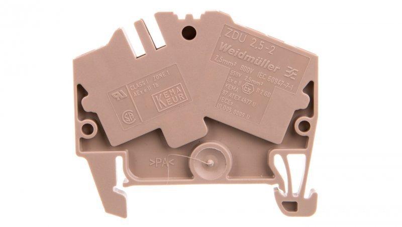 Złączka szynowa 3-przewodowa 2,5mm2 beżowa ZDU 2.5-2/3AN Ex 1706010000