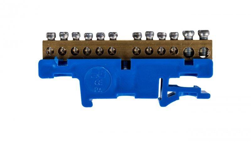 Listwa zaciskowa na szynę 12-torowa niebieska TH35 2N LZ-12/N 0921-00
