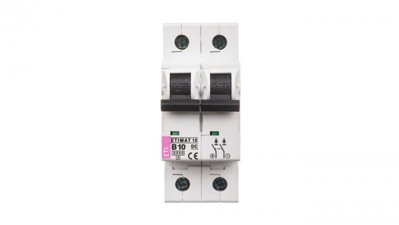 Wyłącznik nadprądowy 2P B 10A 6kA DC ETIMAT10 002128714