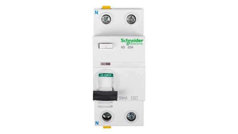 Wyłącznik różnicowoprądowy 2P 25A 0,03A typ AC iID A9Z11225