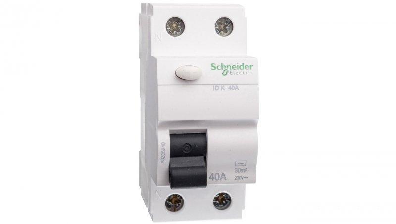 Wyłącznik różnicowoprądowy 2P 40A 0,03A typ AC ID K A9Z05240