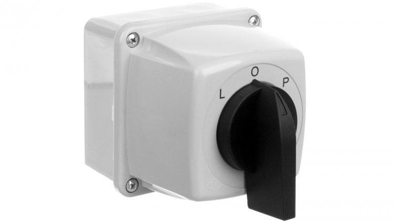 Łącznik krzywkowy L-O-P 16A 3P w obudowie IP65 LUK- 16-43E 951643