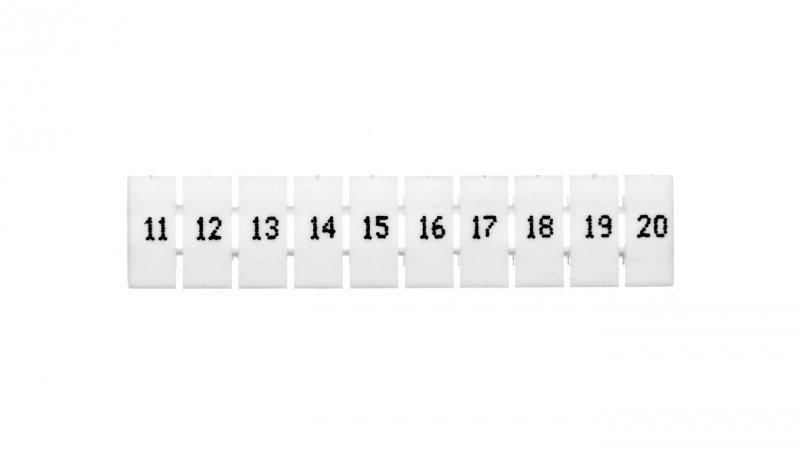 Oznacznik do złączek EZU-5/11-20 biały R34RR-07060001310 /100szt./