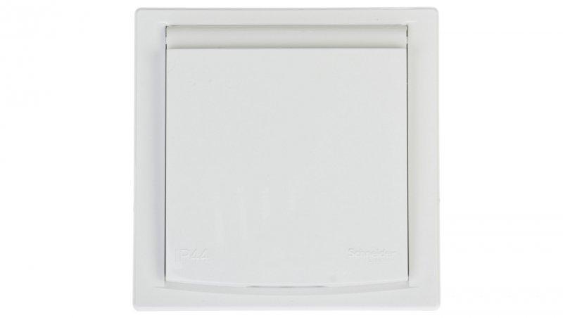 ASFORA Gniazdo pojedyncze z/u IP44 z przesłonami białe EPH2800321