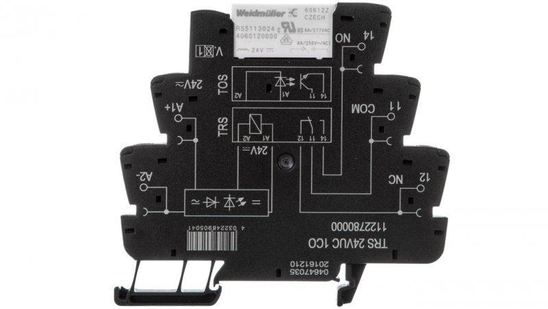 Przekaźnik przemysłowy 1P 6A 24V AC/DC TRS 24VUC 1CO 1122780000