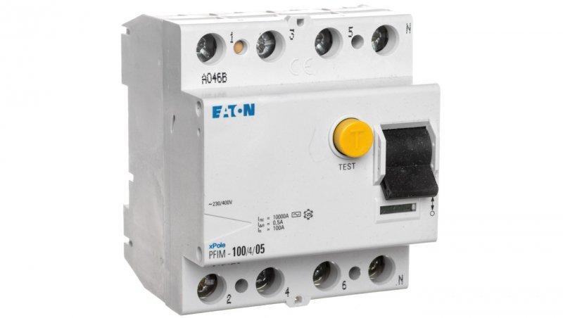 Wyłącznik różnicowoprądowy 4P 100A 0,5A typ AC PFIM-100/4/05 102826