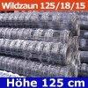 Wildzaun Forstzaun Weidezaun 125/18/15 50 Meter