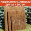 Weidenmatte Sichtschutz Rollzaun 160 cm x 300 cm