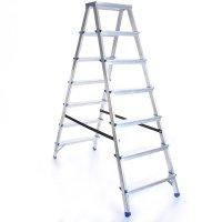 Leiter Aluleiter Zweiseitige Klappleiter 7 Stufen